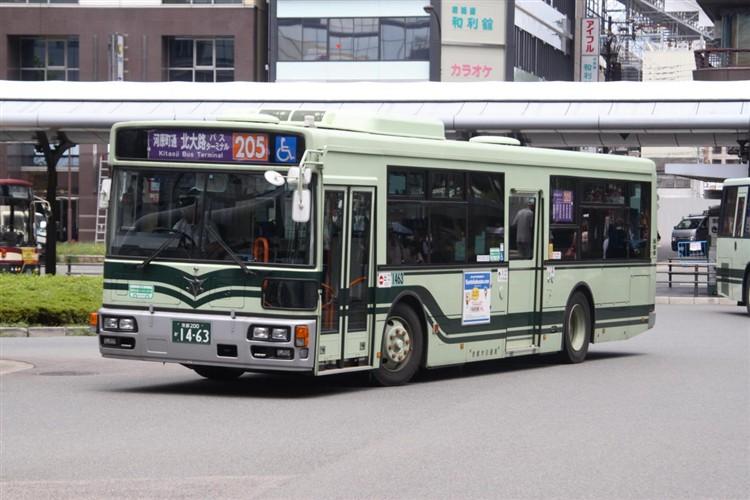 京都市バス 京都200か1463 日野PJ-KV234N1