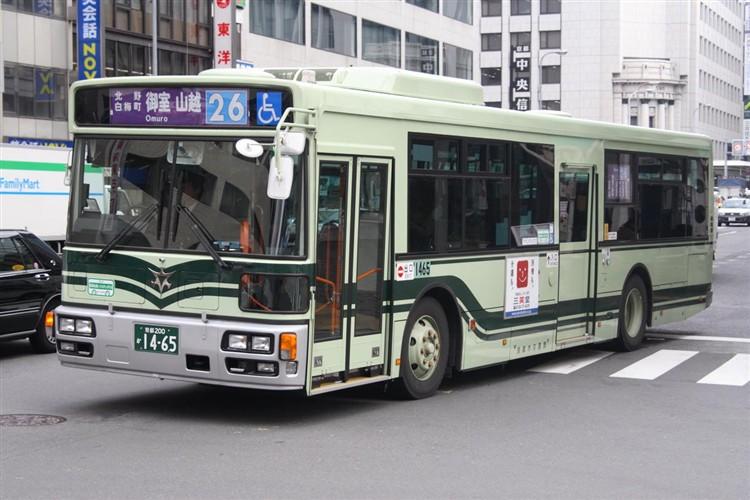 京都市バス 京都200か1465 日野PJ-KV234N1