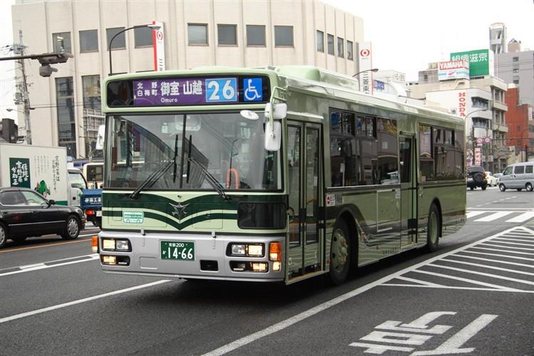 京都市バス 京都200か1466 日野PJ-KV234N1