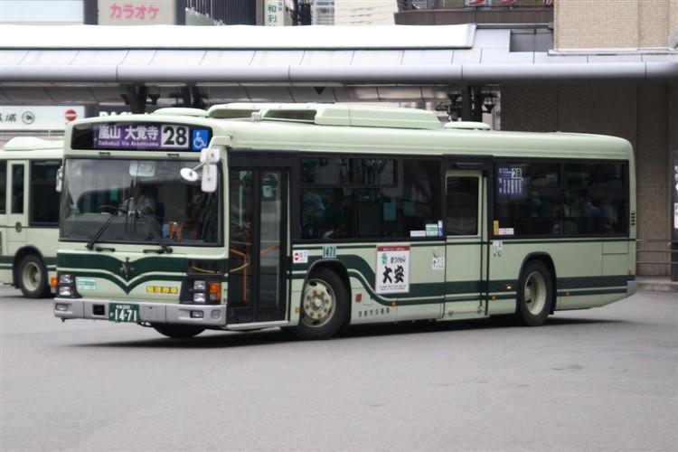 京都市バス 京都200か1471 日野PJ-KV234N1