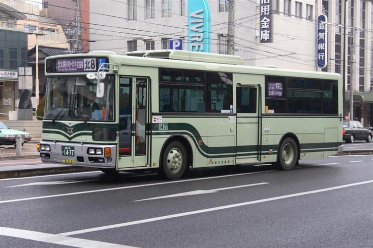 京都市バス 京都200か1477 日野PJ-KV234L1(ワンステ)