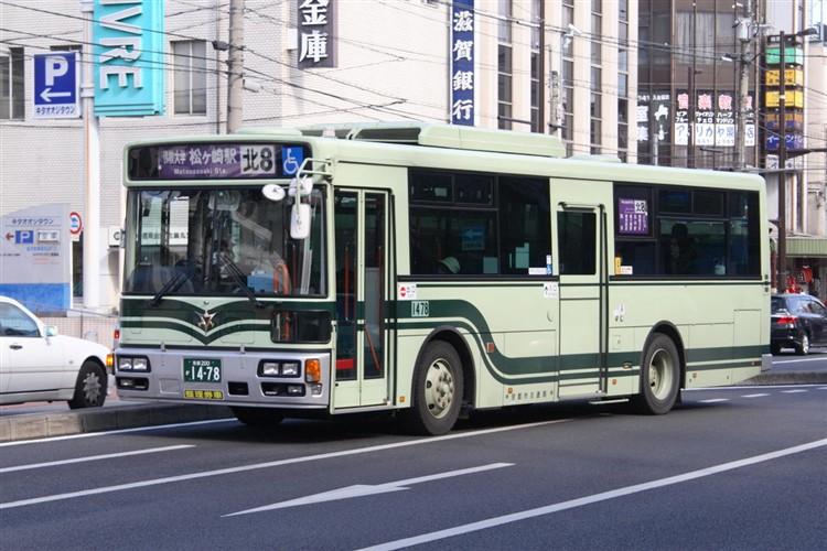京都市バス 京都200か1478 日野PJ-KV234L1(ワンステ)