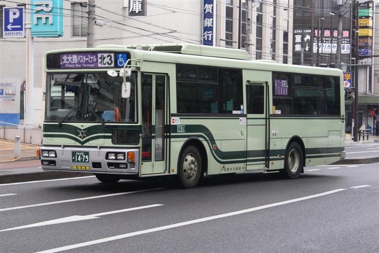 京都市バス 京都200か1479 日野PJ-KV234L1(ワンステ)