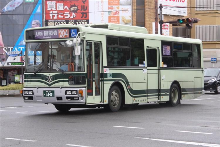 京都市バス 京都200か1481 日野PJ-KV234L1(ワンステ)