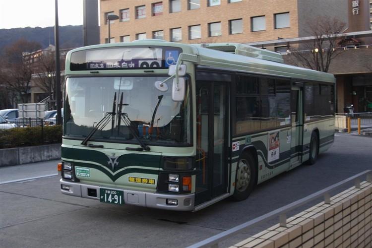 京都市バス 京都200か1491 日野PJ-KV234N1