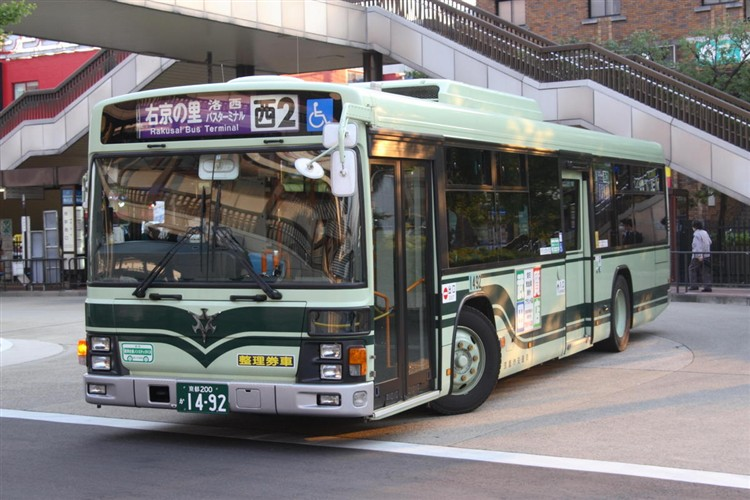 京都市バス 京都200か1492 日野PJ-KV234N1