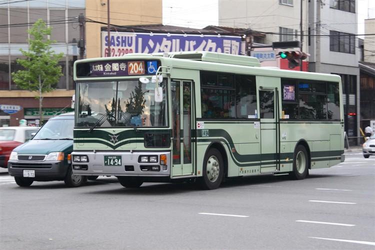 京都市バス 京都200か1494 日野PJ-KV234L1(ワンステ)
