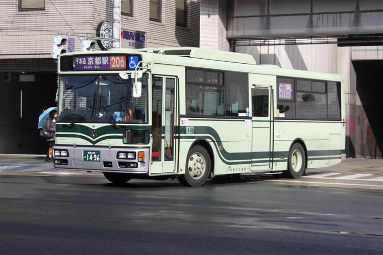 京都市バス 京都200か1496 日野PJ-KV234L1(ワンステ)