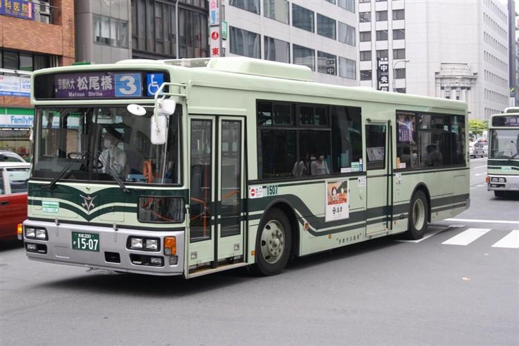 京都市バス 京都200か1507 日野PJ-KV234N1