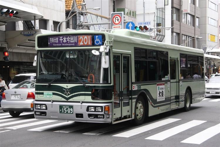 京都市バス 京都200か1509 日野PJ-KV234N1