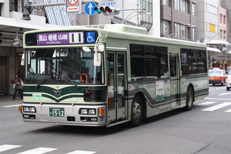 京都市バス 京都200か1512 日野PJ-KV234N1