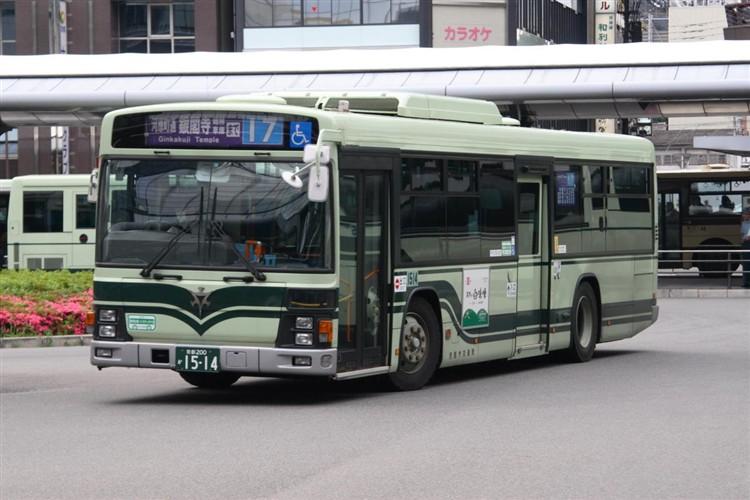京都市バス 京都200か1514 日野PJ-KV234N1