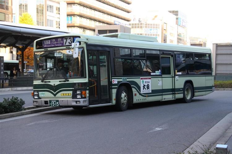 京都市バス 京都200か1515 日野PJ-KV234N1