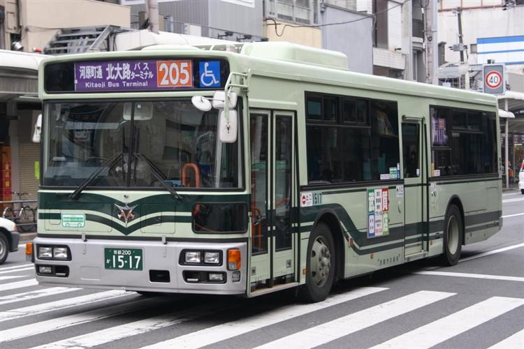 京都市バス 京都200か1517 日野PJ-KV234N1