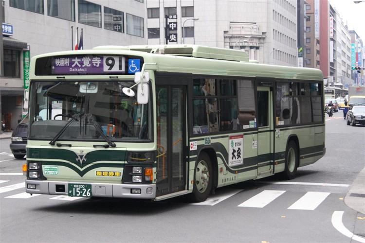 京都市バス 京都200か1526 日野PJ-KV234N1