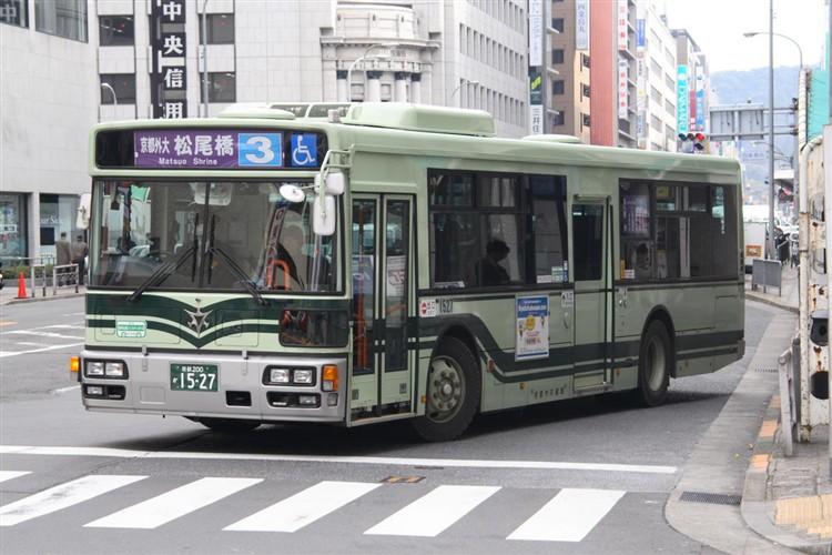 京都市バス 京都200か1527 日野PJ-KV234N1