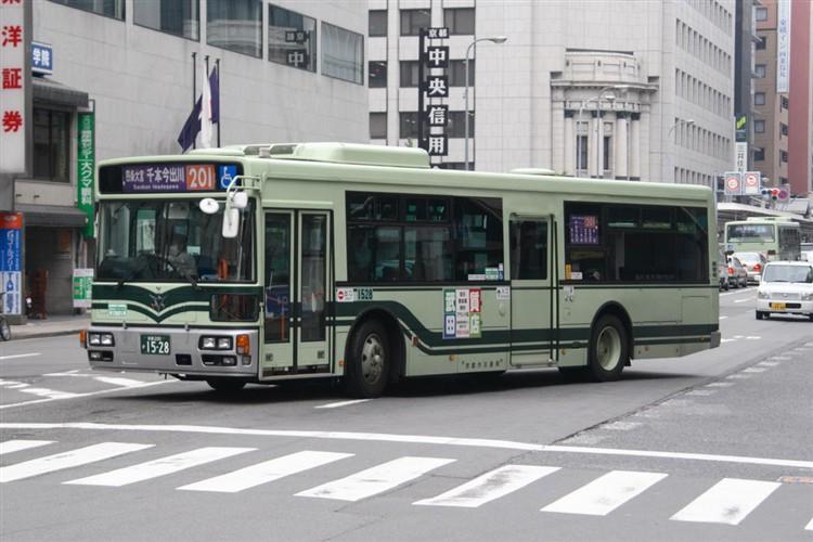 京都市バス 京都200か1528 日野PJ-KV234N1