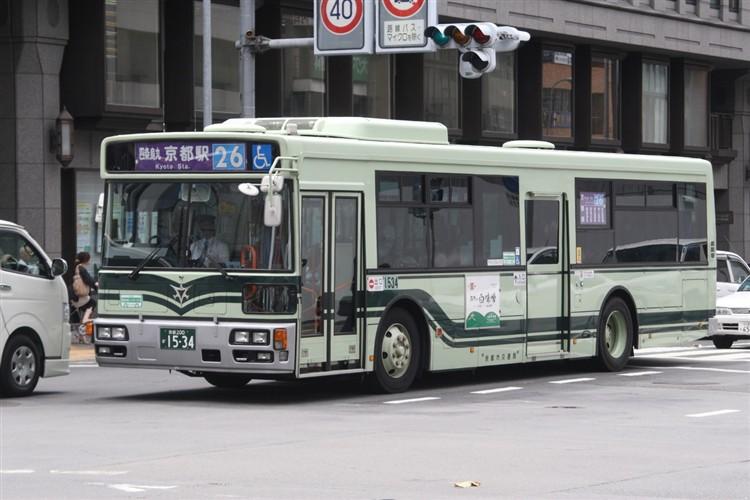 京都市バス 京都200か1534 日野PJ-KV234N1