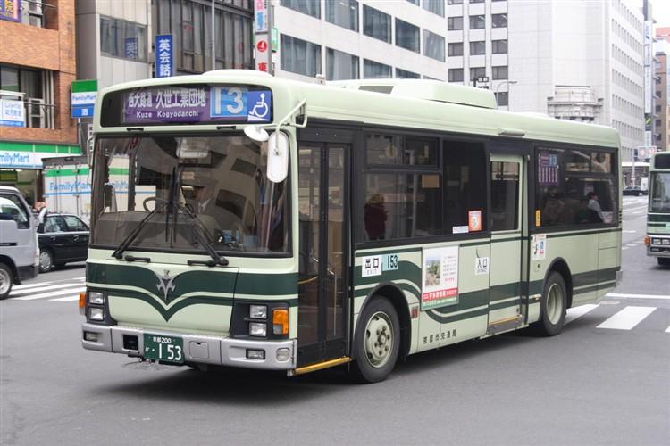 京都市交通局 京都200か・153 いすゞKK-LR233J1