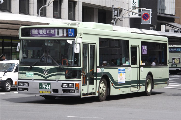 京都市バス 京都200か1544 日野PJ-KV234N1