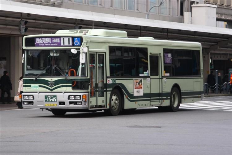 京都市バス 京都200か1545 日野PJ-KV234N1