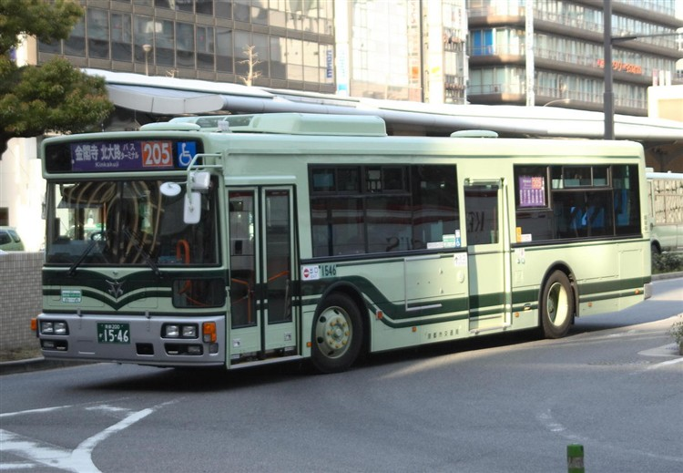 京都市バス 京都200か1546 日野PJ-KV234N1