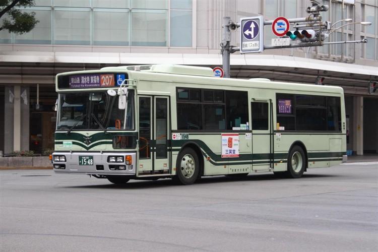 京都市バス 京都200か1548 日野PJ-KV234N1