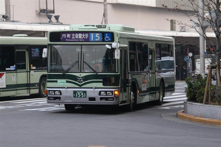 京都市バス 京都200か1551 日野PJ-KV234N1