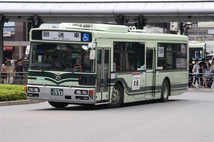 京都市バス 京都200か1553 日野PJ-KV234N1