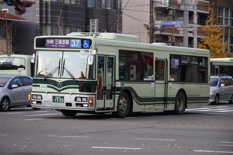 京都市バス 京都200か1555 日野PJ-KV234L1