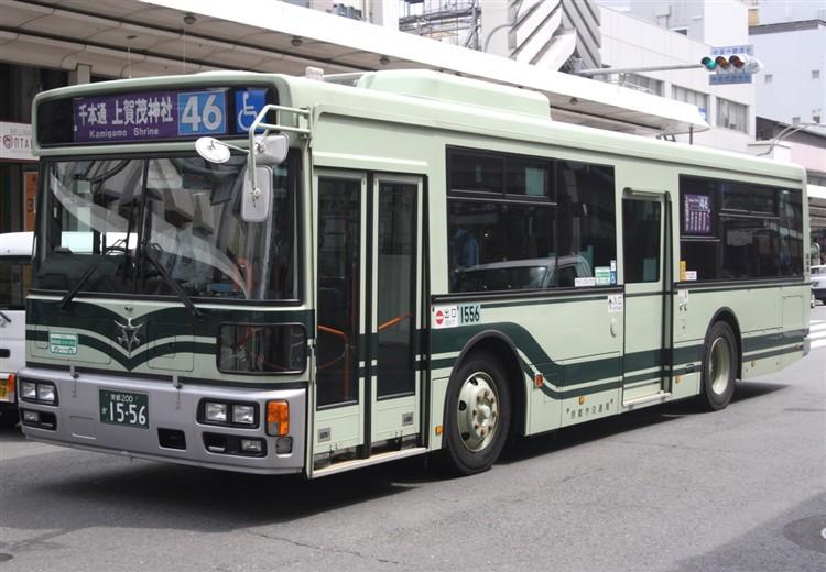 京都市バス 京都200か1556 日野PJ-KV234L1