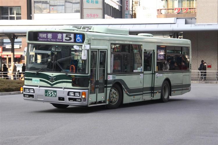 京都市バス 京都200か1557 日野PJ-KV234L1