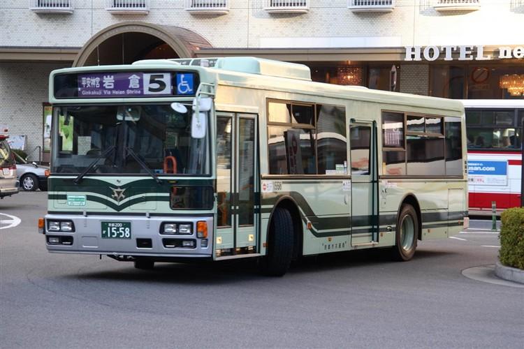 京都市バス 京都200か1558 日野PJ-KV234L1