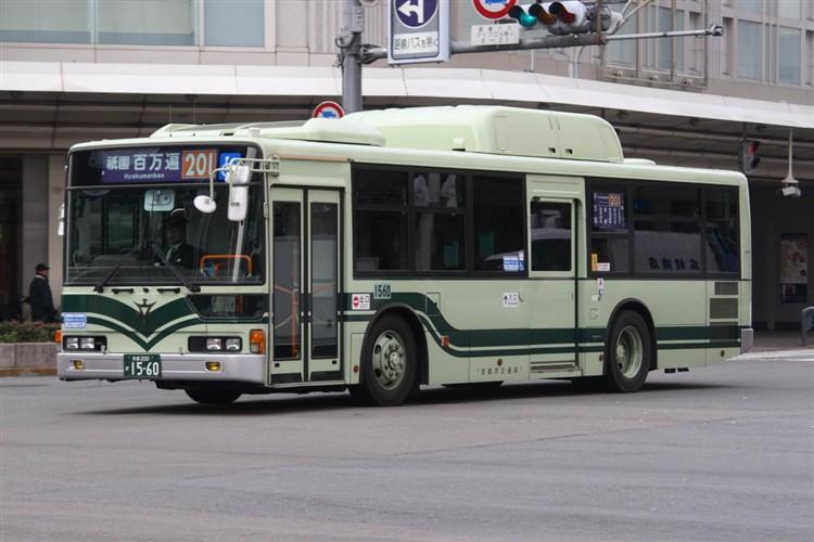 京都市バス 京都200か1560 三菱KL-MP37JK改(CNG車輌)