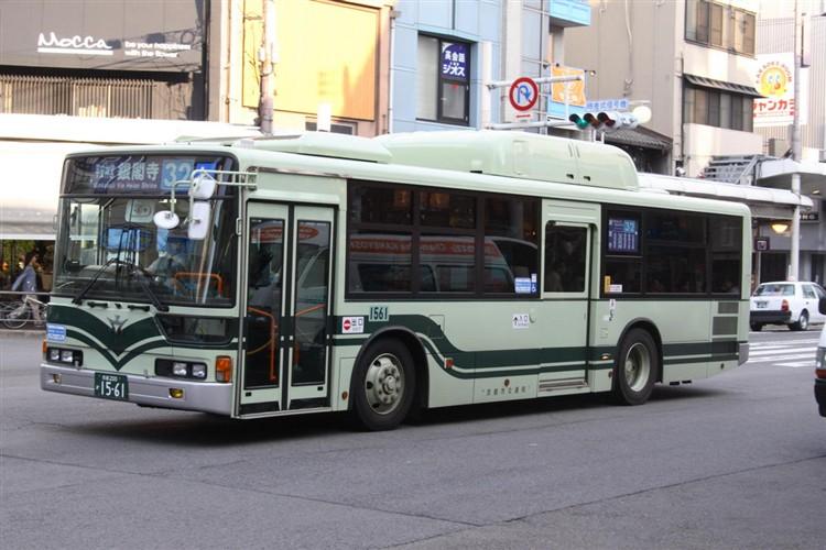 京都市バス 京都200か1561 三菱KL-MP37JK改(CNG車輌)