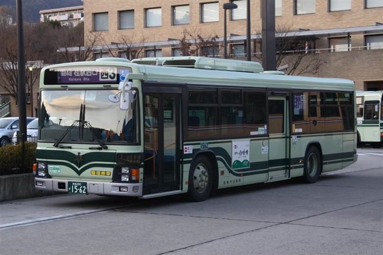 京都市バス 京都200か1562 日野PJ-KV234N1