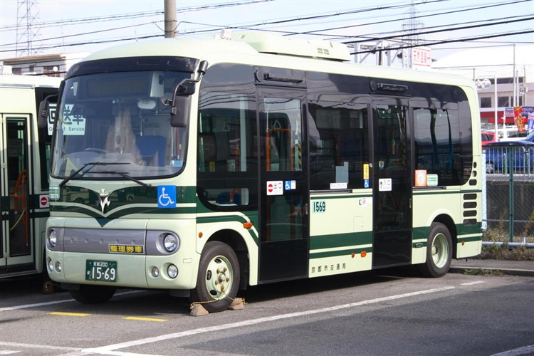 京都市バス 京都200か1569 日野ADG-HX6JLAE