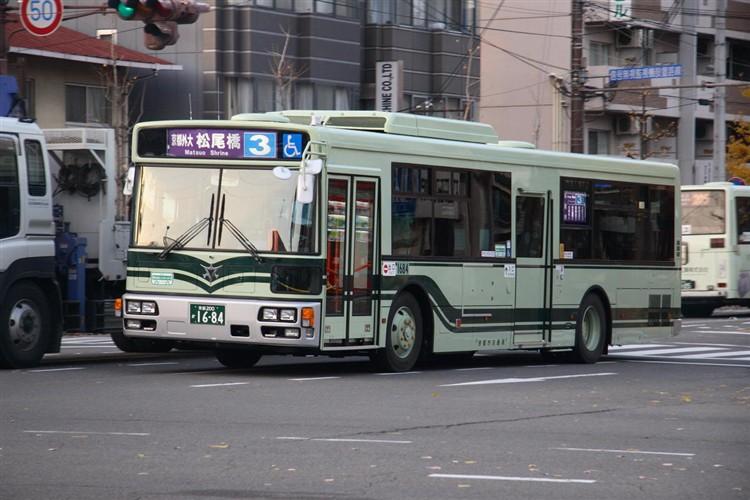 京都市バス 京都200か1684 三菱PDG-AA273MAN