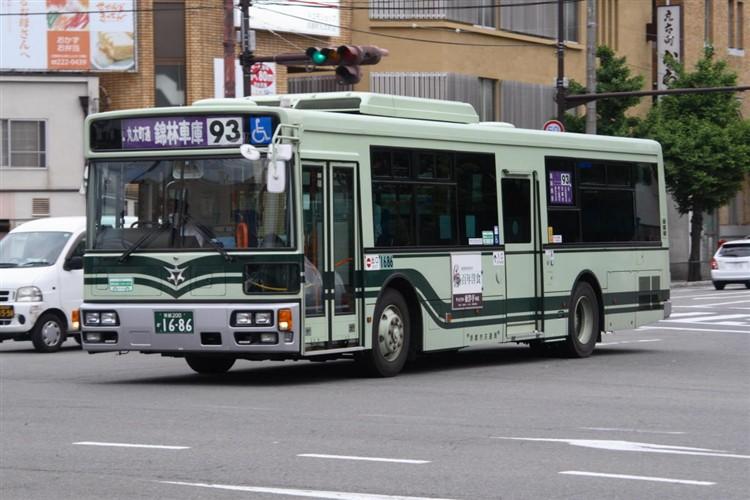 京都市バス 京都200か1686 三菱PDG-AA273MAN