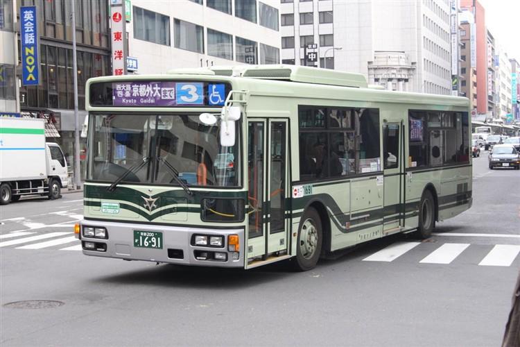 京都市バス 京都200か1691 三菱PDG-AA273MAN