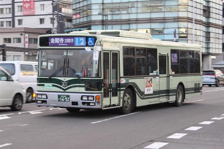 京都市バス 京都200か1692 三菱PDG-AA273MAN