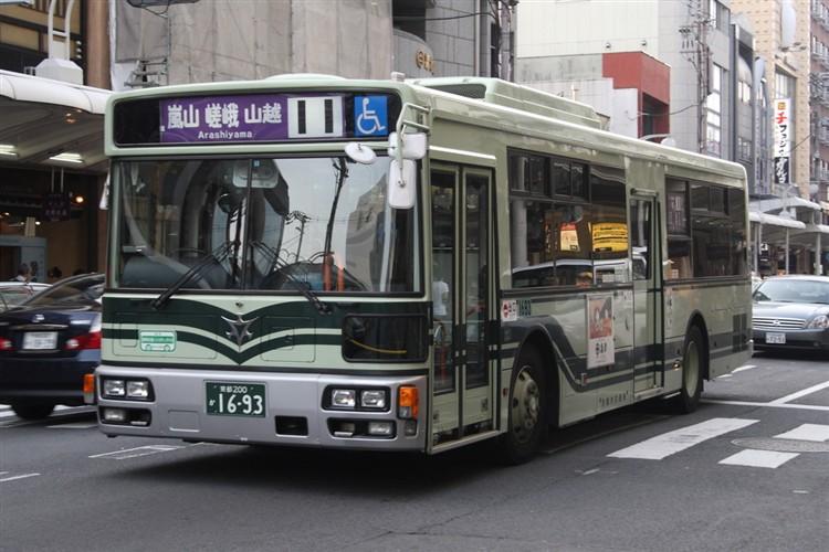 京都市バス 京都200か1693 三菱PDG-AA273MAN