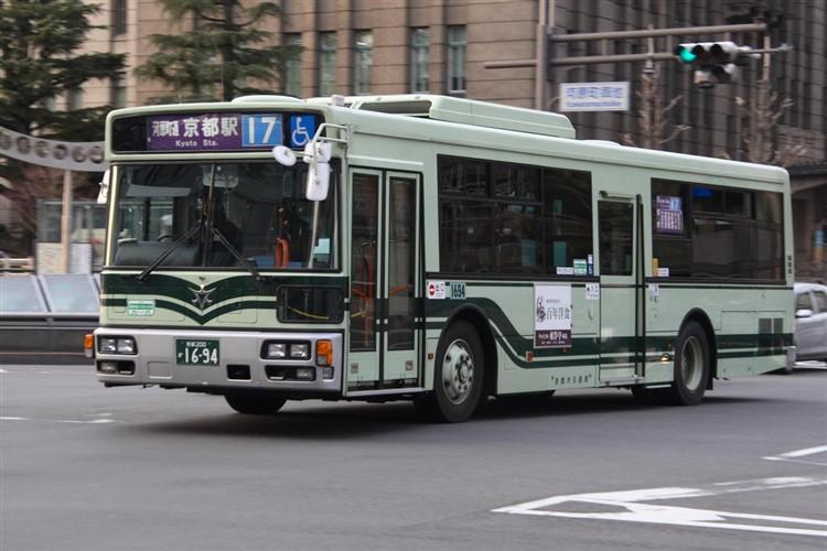 京都市バス 京都200か1694 三菱PDG-AA273MAN