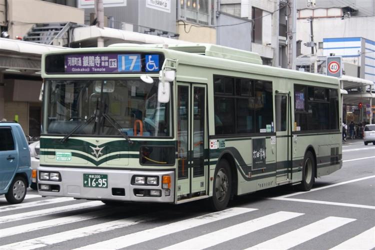 京都市バス 京都200か1695 三菱PDG-AA273MAN