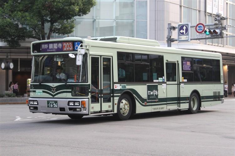 京都市バス 京都200か1696 三菱PDG-AA273MAN