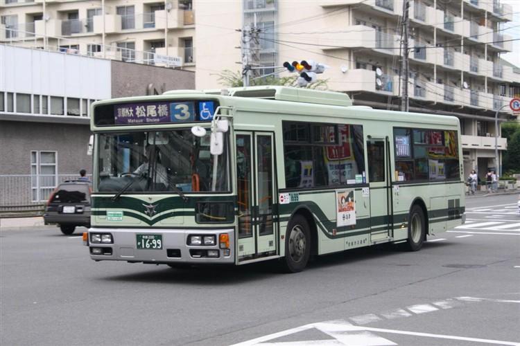 京都市バス 京都200か1699 三菱PDG-AA273MAN