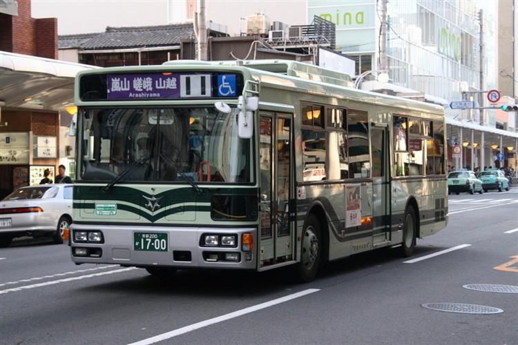 京都市バス 京都200か1700 三菱PDG-AA273MAN