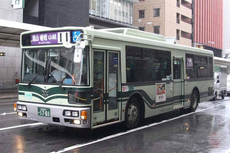 京都市バス 京都200か1701 三菱PDG-AA273MAN