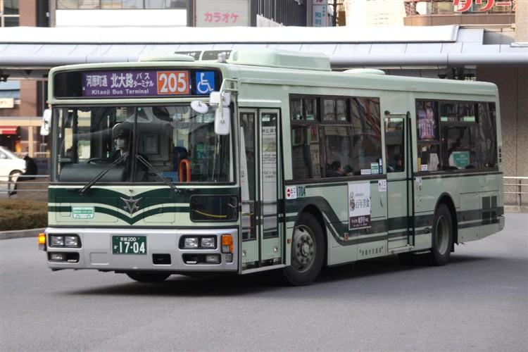 京都市バス 京都200か1704 三菱PDG-AA273MAN