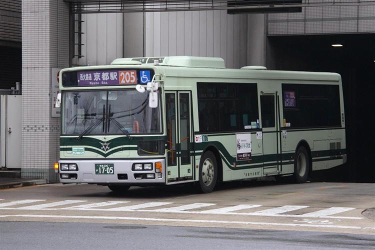 京都市バス 京都200か1705 三菱PDG-AA273MAN
